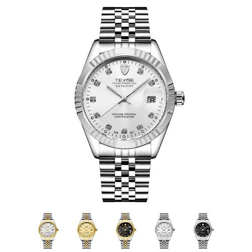 TEVISE Men Brand Watch Moda luxo relógio de pulso
