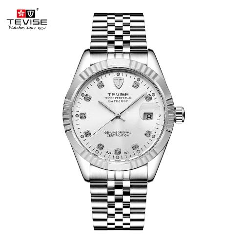 TEVISE hombres reloj de la marca de lujo reloj de la manera impermeable reloj mecánico automático luminoso relojes deportivos casuales