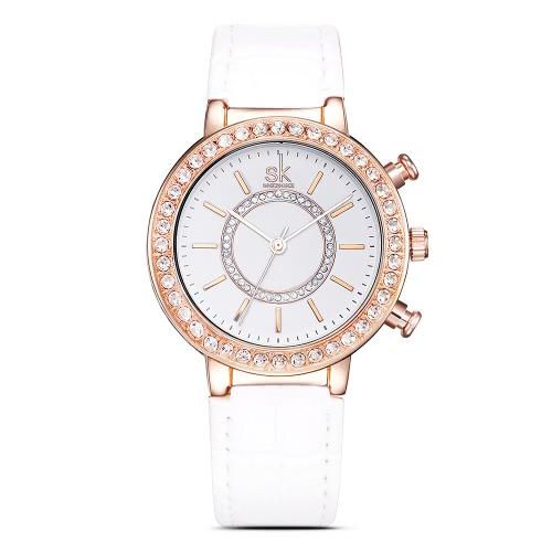 SK Diamond Water-Resistant Quartz Women Watches