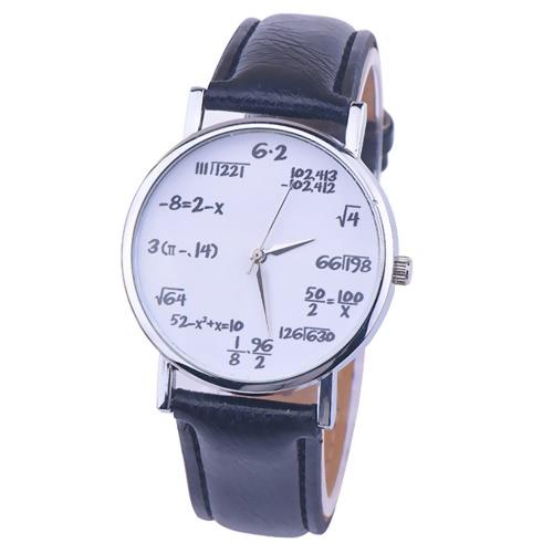 OKTIME Wandergirls Fórmula matemática unisex reloj de pulsera de cuarzo de moda Relojes de pulsera de acero inoxidable de cuero