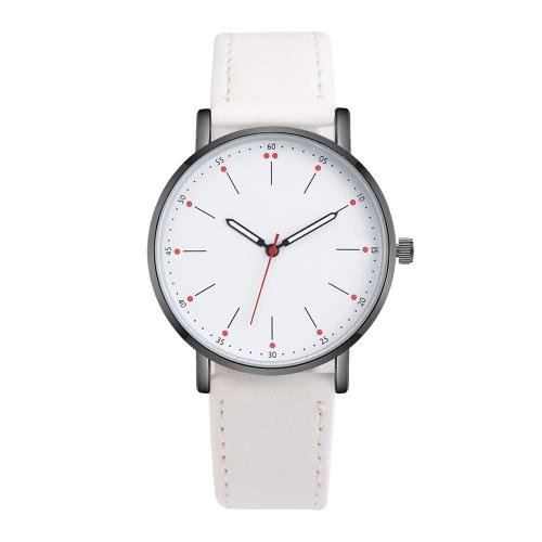 OKTIME Nowe modne mężczyzna Retro Minimalna konstrukcja Pasek skórzany Analogowy stop Quartz Casual Wrist Watch