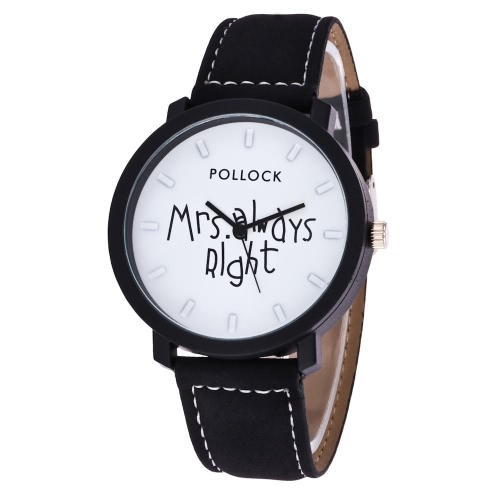 Fashion Casual Mrs Always Right Wrist Watch