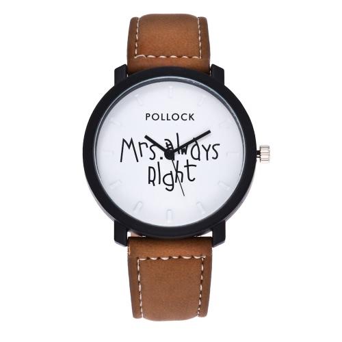 Moda casual señora siempre reloj de pulsera derecho