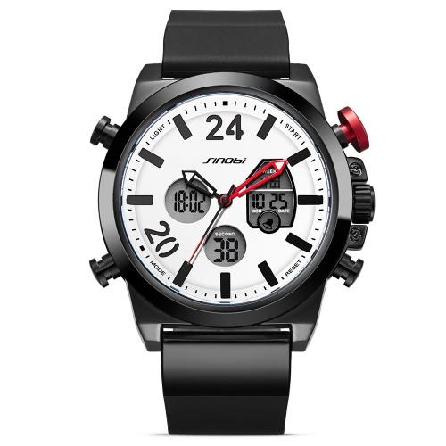 SINOBI reloj de cuarzo deportivo 3ATM resistente al agua hombres Relojes Luminoso reloj de pulsera masculino cronógrafo