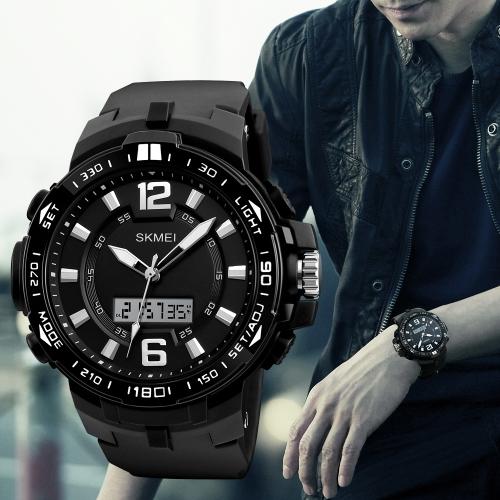 SKMEI Sport Reloj digital 5ATM resistente al agua Reloj de pulsera retroiluminado Reloje masculino Relogio Musculino Cronógrafo