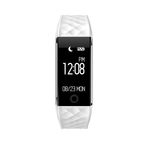 """Smart Wristband 0.96 """"OLED Touch Screen BT 4.0 Sleep / Monitor de frequência cardíaca Pedometer Smart Bracelet Fitness Tracker para Android 4.3 e IOS 7.0 ou acima"""