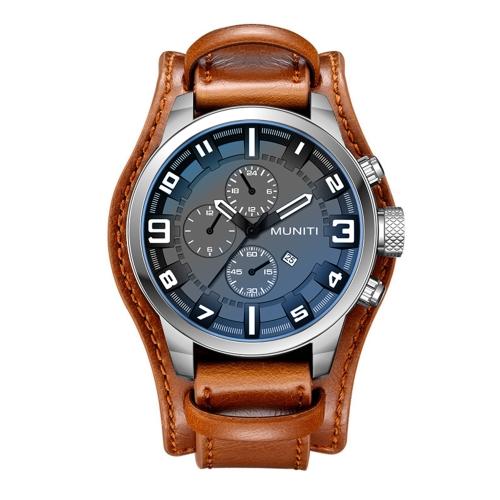 MUNITI Fashion Sport Men Watch Reloj de pulsera de cuarzo resistente al agua Life Relogio Musculino