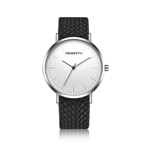 REBIRTH Fashion Cloth Men Watches 3ATM Cuarzo resistente al agua Casual Women Simple Unisex reloj de pulsera
