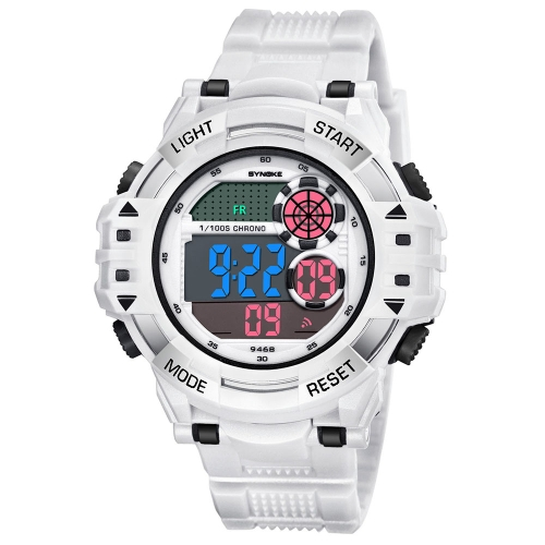 SYNOKE Fashion Sport Watches 3ATM resistente al agua Electronic Watch Luminous Man Reloj de pulsera Hombre Relogio Musculino Chronograph Alarm Clock