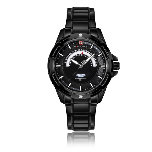 NAVIFORCE Moda Hombres de Acero Inoxidable Relojes 3ATM Cuarzo Resistente Al Agua Luminoso Casual Hombre Reloj Masculino Relogio Musculino