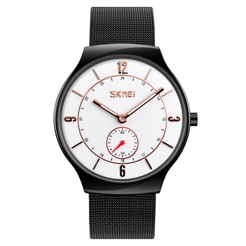 SKMEI reloj de cuarzo casual de moda 3ATM reloj de pulsera resistente a los hombres reloj de pulsera de zinc macho