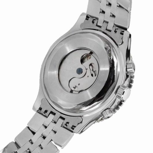 JARAGAR Mode automatische mechanische Uhr Edelstahlarmband Männer Armbanduhr