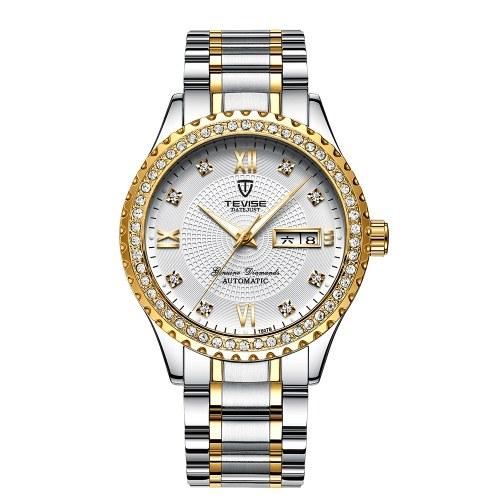 TEVISE T807B Relógio de Pulso Dos Homens Marca de Relógio Semi-automático Mecânico Moda Luxo Relógio À Prova D 'Água Luminosa Business Casual Assista