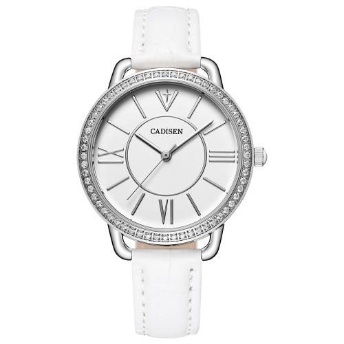 Кадис Модные женские часы Кварц Роскошные PU кожаные наручные часы Простой причинный подарок для женщин
