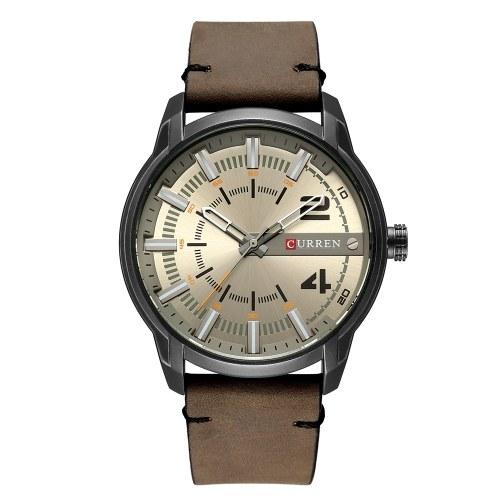 Curren Fashion Leather Watches Men Quartz Analog Date Clock Male Wristwatches Relogio Masculino