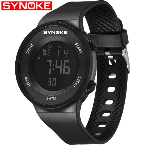 Image of SYNOKE 9199 Sport Watch LED Digital Watch Alarm Luminous Second Timing Waterproof Sport Band