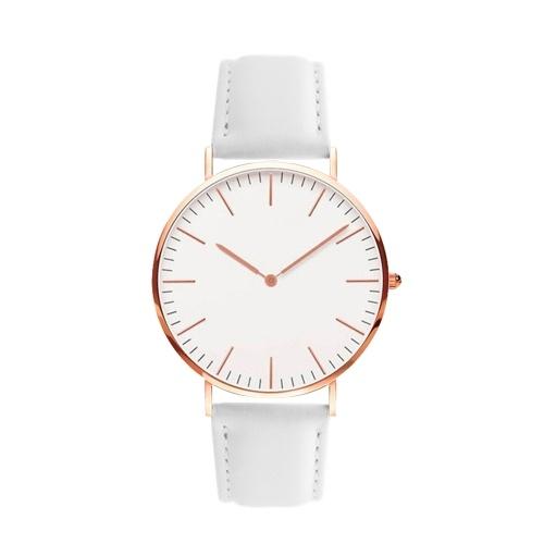 Мужчины Женщины Мода Простые ультратонкие часы