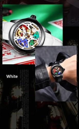 Image de TEVISE T832 Hommes Automatique Montre Mécanique Temps Affichage Mode Casual Bracelet En Cuir 3ATM Étanche Lumineux Mains Mâle Sport Montre-Bracelet