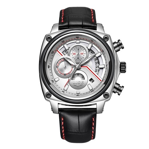 LIGE 9891 Quartz Men Watch Casual Fashion Top Luxury Brand Sport Watch Men Military Waterproof Leather Wristwatch Relogio Masculino