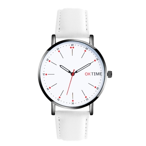 Mode Ultra Simple Couple Quartz Montre Casual Montre-bracelet analogique unisexe