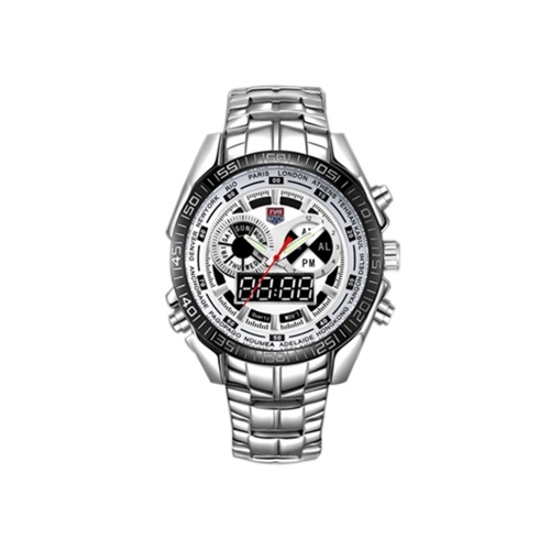 Men Watch LED Pointer Waterproof Montre Sports Watches for Men White