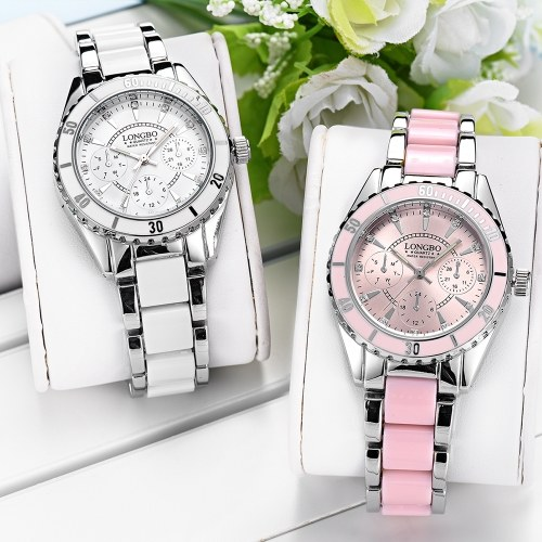 LONGBO 80303L-P10 Женские Часы Женские Водонепроницаемые Спортивные Кварцевые Часы Женщины Девушка Часы для Женщин
