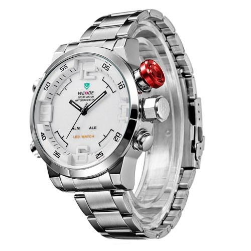 WEIDE WH2309 Dual Display Two Movement Quartz Digtal Men Watch