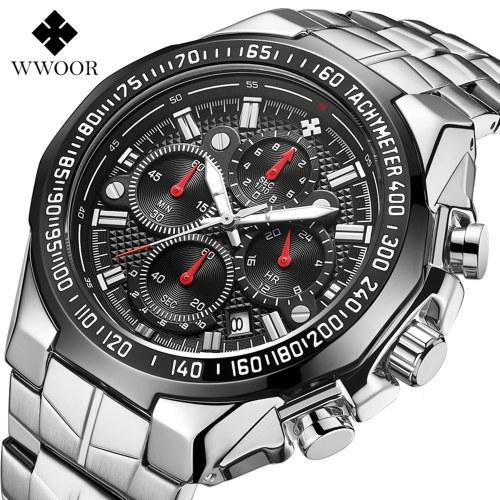 WWOOR 8868 Деловые кварцевые мужские часы