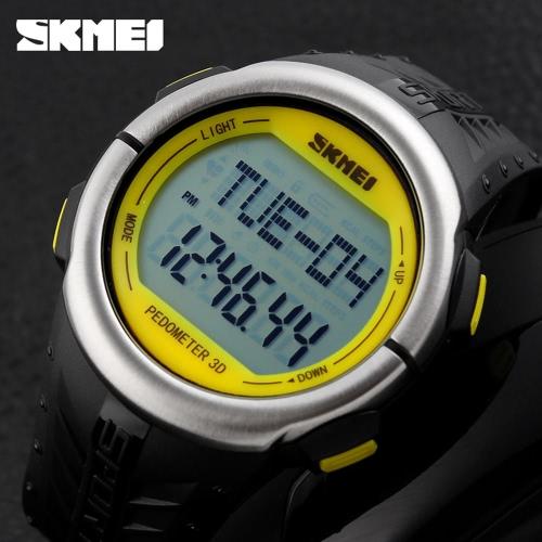 SKMEI New Big Fall Pedometer Heart Rate Monitor Digital-Armbanduhr