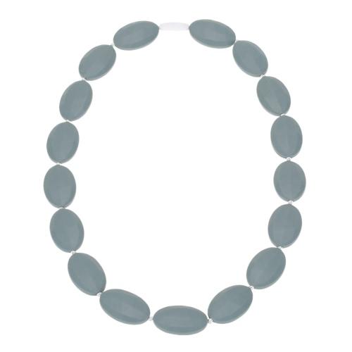 Comida 100% grado cuentas suave de silicona dentición collar de niño del bebé mastica enfermería juguete de joyas para mamá llevar BPA libre EN71 F963 certificado del FDA