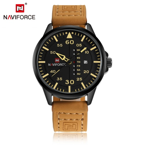 NAVIFORCE Chic Fashion Man Watch 3ATM Water Resistant High Quality Analog Quartz Wristwatch