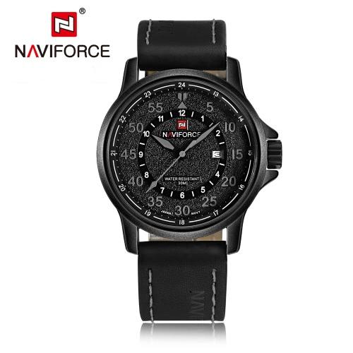 NAVIFORCE 2016 New Fashion Man Quartz Watch Wysokiej jakości skórzany pasek PU Business Casual Men Zegarek 30M Wodoodporny W / Box