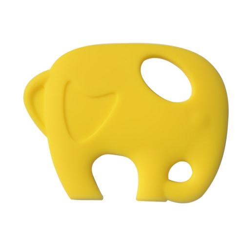 BPA libre de alimentos de grado silicona elefante niño dentición juguetes para el bebé Teether Chew dentición collar accesorio