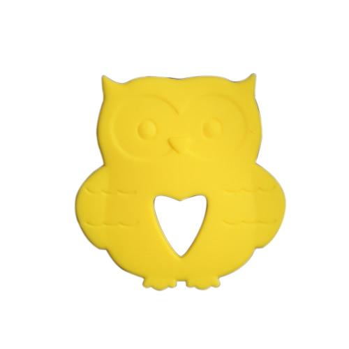 BPA Free Food Grade Silikon Vogel Kleinkind Zahnen Spielzeug für Baby Teether Chew Zahnen Halskette Zubehör