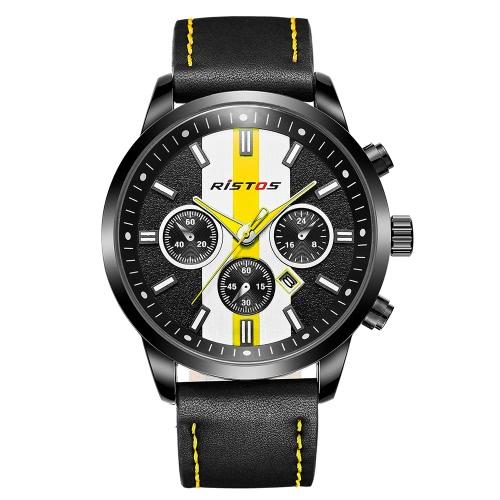 RISTOS 2017 Moda Deportes Quartz Hombres Reloj Car Racing Estilo Impermeable Hombre Casual Reloj Cool Chronograph Reloj Masculino Relogio + Caja