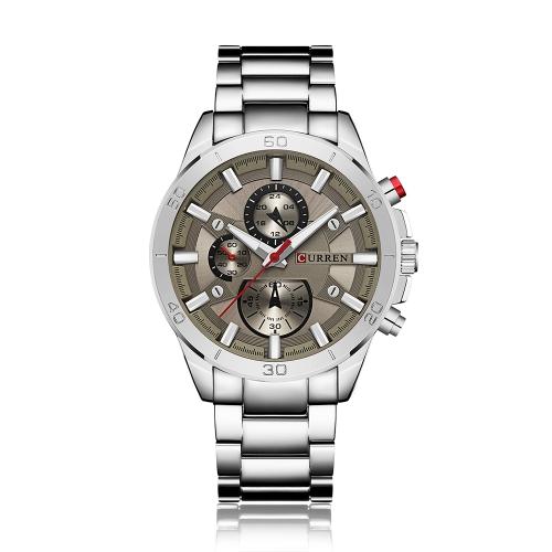 CURREN 2017 moda luminoso reloj de cuarzo de acero inoxidable hombre a prueba de agua hombre reloj de pulsera de negocios Chrono