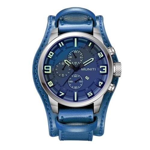 MUNITI Fashion Sport Men Watch Life Wodoodporny zegarek kwarcowy Relogio Musculino