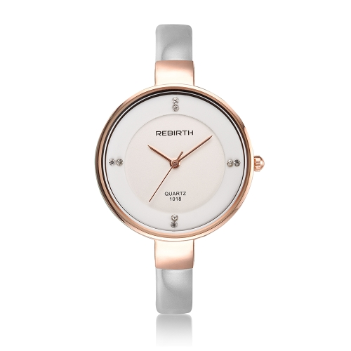 REBIRTH Fashion Luxury Women Relojes 3ATM Cuarzo resistente al agua Casual Mujer Reloj de pulsera Relogio Feminino