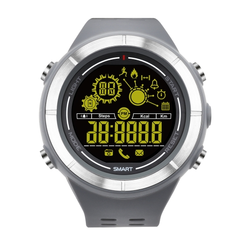Smart Watch FSTN Display BT 4.0 Fitness Tracker Podómetro Cronómetro Reloj de pulsera inteligente de la cámara de control remoto para iOS 7.0 y Adroid 4.3