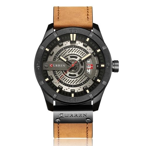 Relojes CURREN Fashion Genuine Leather Men