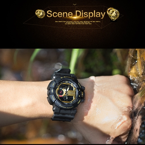 Men's Stylish Sports Multi-function Electronic Waterproof Watch Dual Display Wristwatches