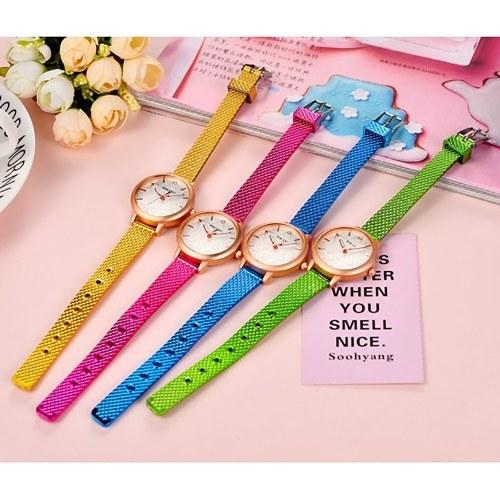 TOMTOP / Quartz Watch Women PU Leather Strap Wrist Watch Casual Female Clock