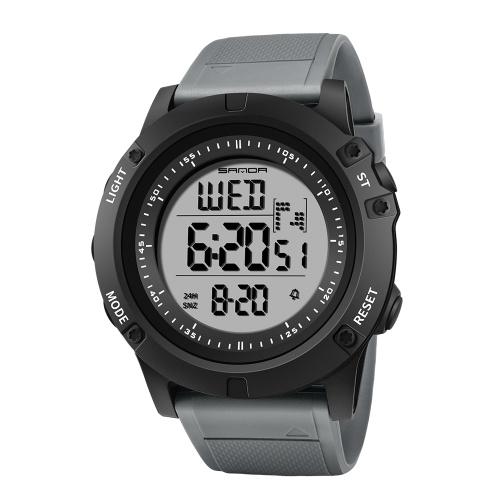 SANDA 372 montre de sport électronique hommes montres étanches numérique LED rétro-éclairage montre bracelet pour horloge mâle