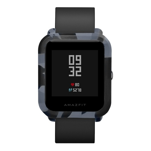 Funda de reloj suave de camuflaje compatible con Amazfit Bip Youth Smart Watch Cases Funda protectora de silicona Miband