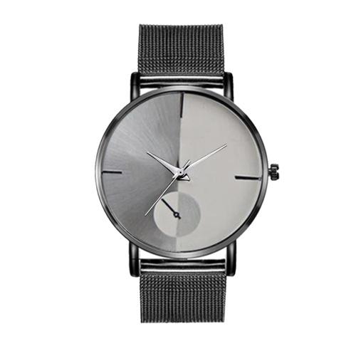 Orologio elegante della lega di affari dell'orologio della cinghia del cinturino della maglia del metallo dell'orologio del quarzo di sport semplici di modo