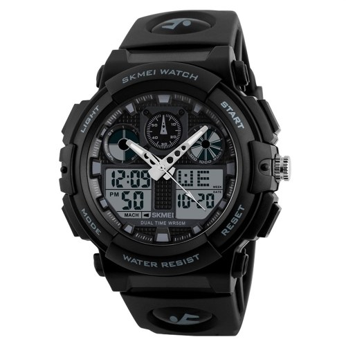 SKMEI 1270 Quartz Digital Electronic Men Watch