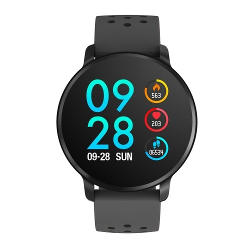 SN11 Smart Watch 1.3-inch IPS-LCD Touchscreen IP67 Waterproof Heart Rate Sleep Blood Pressure/Oxygen Monitor Activity Fitness Tracker Pedometer Sedentary Reminder Remote Camera Music Control Sports Smartwatch with Silicone Strap Band Compatible with Android iOS