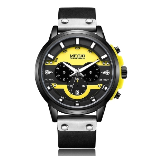 megir 2080 Fashion Quartz Sports Men Watch
