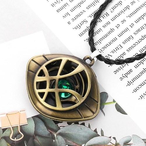 Doktor Seltsame Halskette Auge Agamotto Kostüm Prop Stein Anhänger Exquisite Ornament Retro Halskette