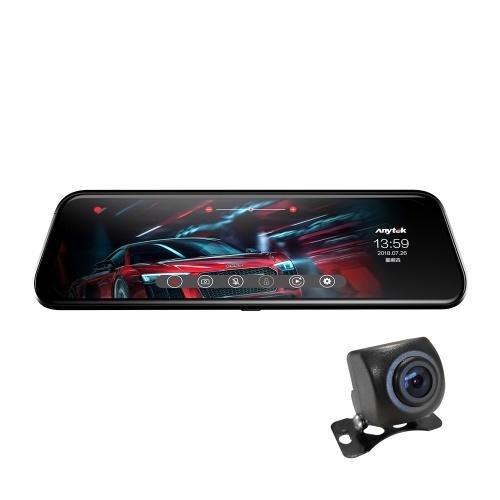 Anytek T12 + ADAS 9,66-дюймовый сенсорный автомобильный Зеркало заднего вида DVR камера